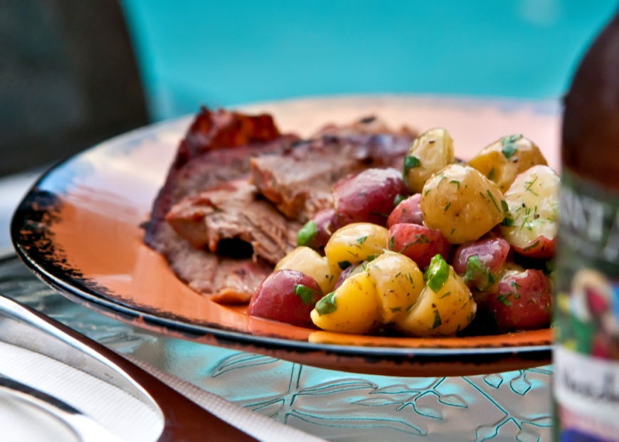 potato salad americans It's time to fire up the grills and get cooking for spring, starting with this hot german potato salad recipe.