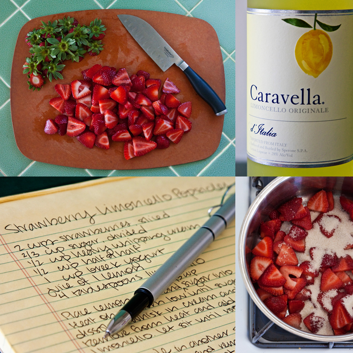 strawberry limoncello popsicles cucina di carrie